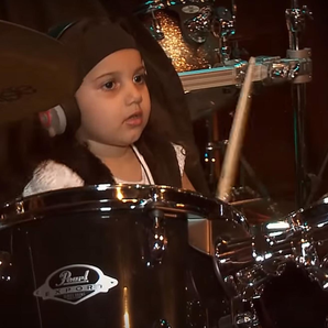 5 year old girl drums