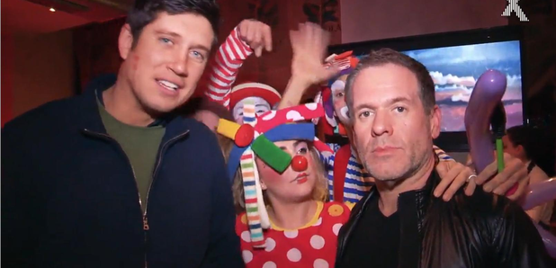 Chris Moyles Vernon Kay clowns