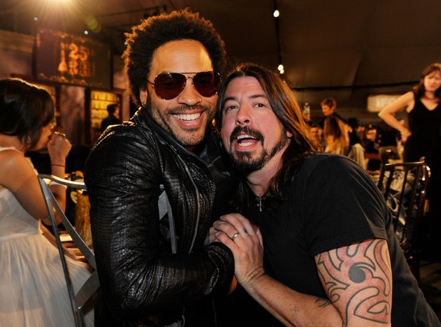 Lenny Kravitz and Dave Grohl