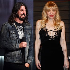 Dave Grohl and Courtney Love Splitscreen