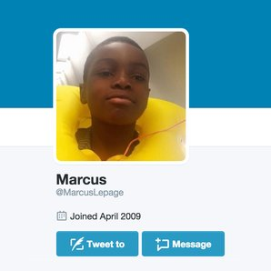 Marcus Lepage Twitter profile