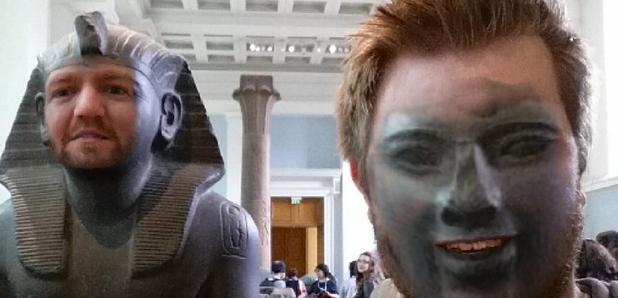 Guy Does Face Swap British Museum
