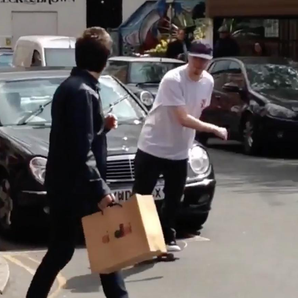 Noel Gallagher and skateboarder Instagram video st