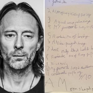 Thom Yorke next to 8-year-old's Radiohead Review