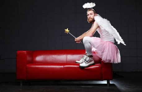 Man Dressed as a Tooth Fairy