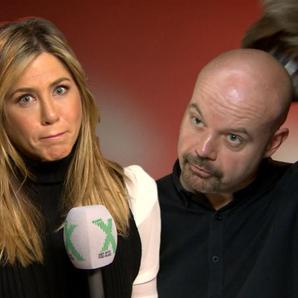 Dom interviewing Jennifer Aniston Radio X