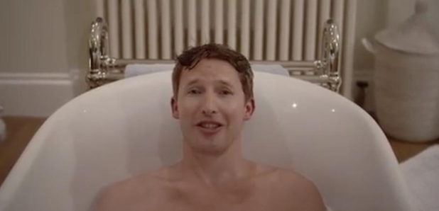 James Blunt in bath image promoting Instagram