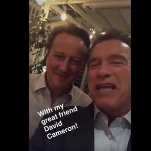 David Cameron & Arnold Schwarzenegger's Snapchat