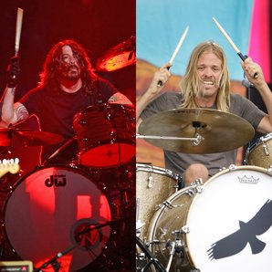 Dave Grohl Taylor Hawkins Foo Fighters drumming