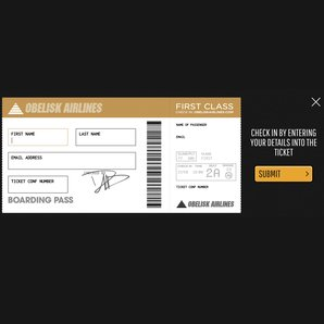 Foo Fighters check-in boarding pass on background