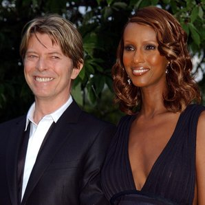 David Bowie and Iman in 2002