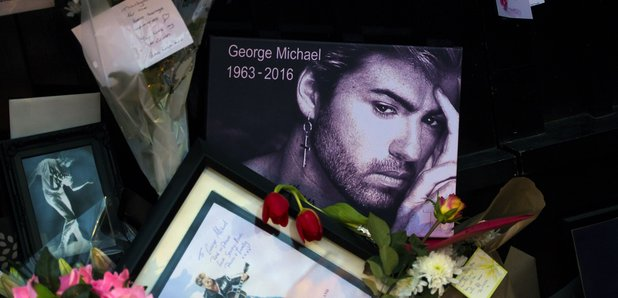 George Michael tributes outside house