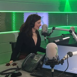 Lorde in the Radio X studio with Gordon Smart
