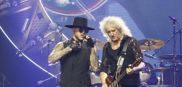 Adam Lambert and Brian May in 2016