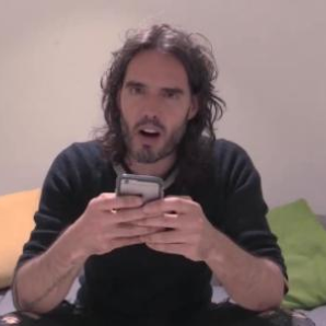 Russell Brand demonstrates how to register to vote