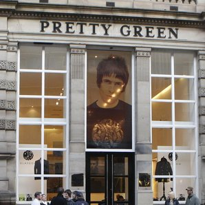 Liam Gallagher Pretty Green store Glasgow