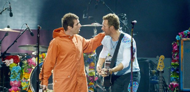 Liam Gallagher and Chris Martin One Love Mancheste