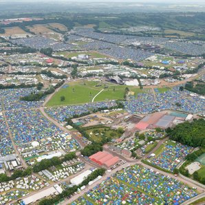 Glastonbury 2017 aerial shot