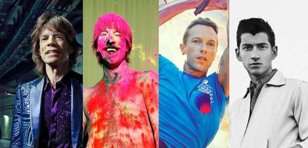 Top 20 Bands list Mick Jagger, Anthony Kiedis, Chr
