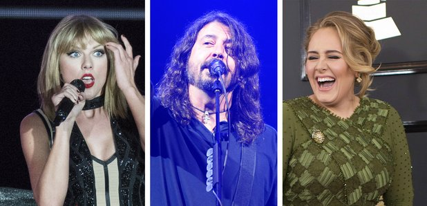 Taylor Swift, Dave Grohl, Adele